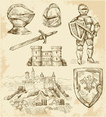Middeleeuwse collectie — Stockvector