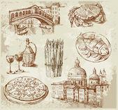 手绘威尼斯集 — 图库矢量图片