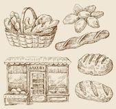 Bread - hand drawn — Stockvektor