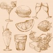 Royalty-Free Stock Imagen vectorial: Drink set