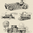 Royalty-Free Stock Vectorielle: Old times theme