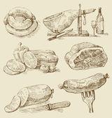 Et kolajlar — Stok Vektör