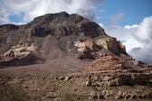 Apron at the crumbling mountain — Stock Photo