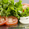 Tomato and Lettuce Salad - Stock Photo