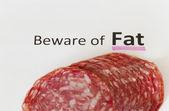 Vorsicht bei fett — Stockfoto