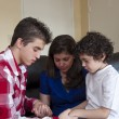 Stock Photo: Hispanic Family Prayer Time