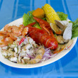 Stock Photo: Cebiche and Seafood