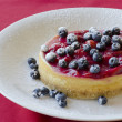 cherry cheescake — Stock Photo