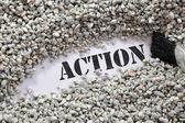 Action -- Treasure Word Series — Stock Photo