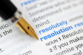 Resolution - Dictionary Series — Stock Photo