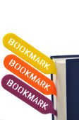Bookmark your book — Stock Photo