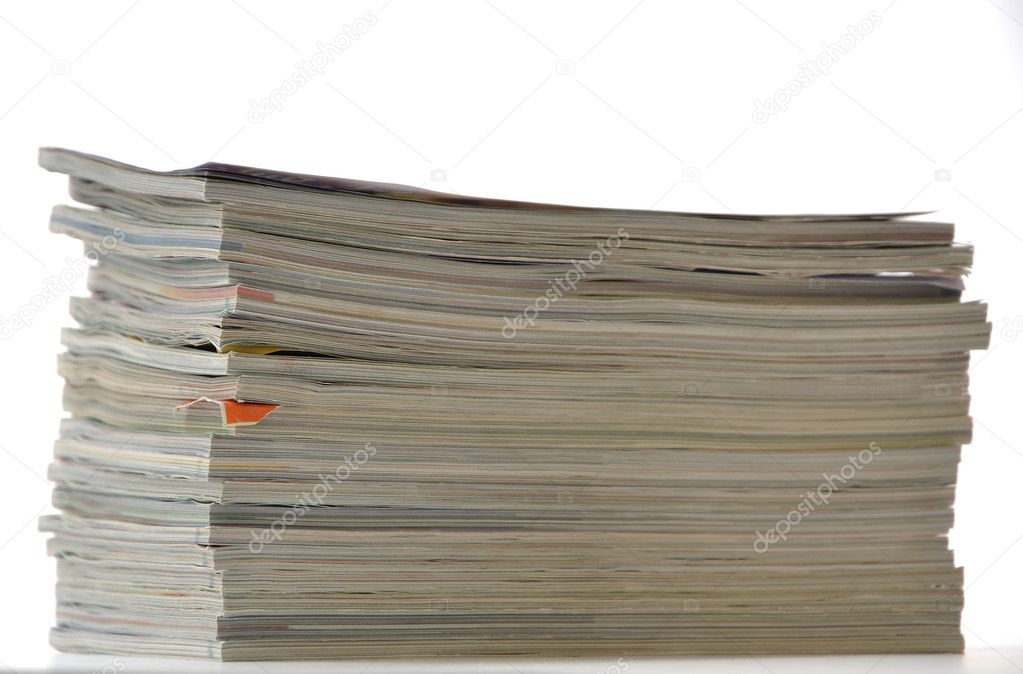 Stack of magazines  Stock Photo #10268064