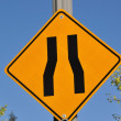 Narrow road sign — Stock Photo
