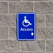Disable access sign — Foto de stock #8794285