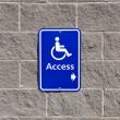 Stock Photo: Disable access sign