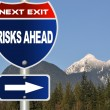 Risks ahead road sign — Stock Photo