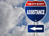 Assistance road sign — Stock Photo