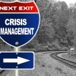 Crisis management road sign — Stock Photo #9080821