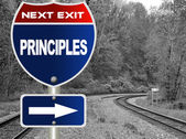 Principles road sign — Stock Photo