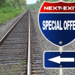 Special offer road sign — Stock Photo