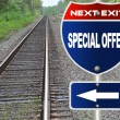 Stock Photo: Special offer road sign