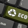Recycle symbol on a Computer keyboard — Stock Photo #9258735