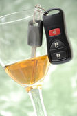 Abstract don't drink and drive — Stock Photo