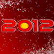 2012 christmas style poster — Stock Photo