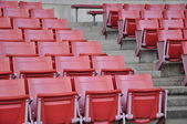 A field of empty stadium seats — Stockfoto