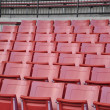 A field of empty seats - Stock Photo