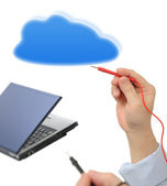 Testing with cloud computing — Foto Stock