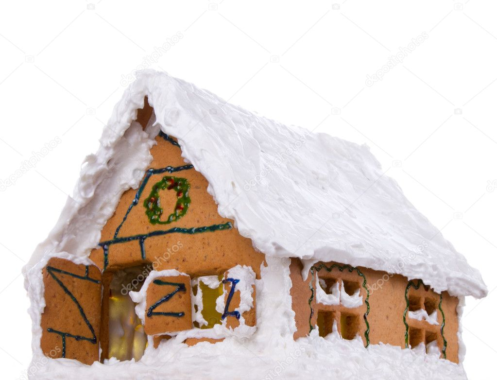 Handmade  hristmas gingerbread big house  Stock Photo #8344907