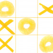 Stock Photo: Tic-tac-toe from fruits