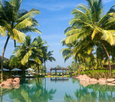 Luxury tropical resort — Stock Photo