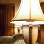 Classic interior with lamp — Stock Photo