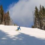 Skiing in Bukovel — Stock Photo