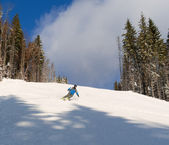 Skiing in Bukovel — Stock Photo