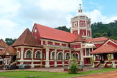 Shri Shantadurga,famous hindu Temple in Ponda .Goa — Stock Photo