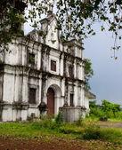 Old catholic church in Goa — Stock Photo