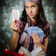 Fortune-teller predicing the cards — Stock Photo