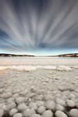 Ice forming on Lake — Stock Photo