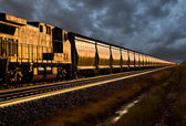 Train at Sunset — Stock Photo
