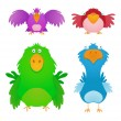 Royalty-Free Stock Vektorfiler: Cute Birds