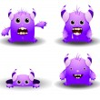 Stock Vector: Cute monsters