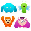 Cute Monsters — Stock Vector #9009799