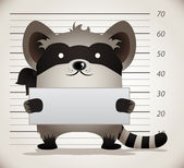 Raccoon Mug Shot — Stock Vector