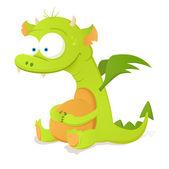 Cute Dragon — Stock Vector
