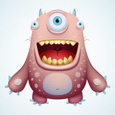 Happy Monster — Stock Vector