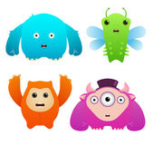 Cute Monsters — Stock Vector