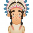 Stock Vector: Native American